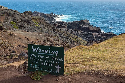 sign at cliff edge