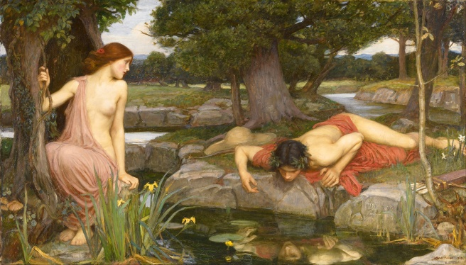 John William Waterhouse Painting Echo and Narcissus
