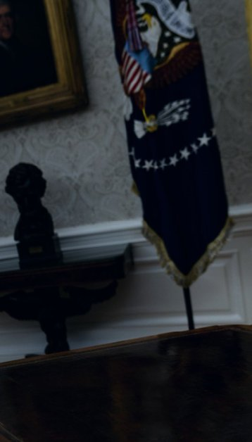 Oval office with Flag