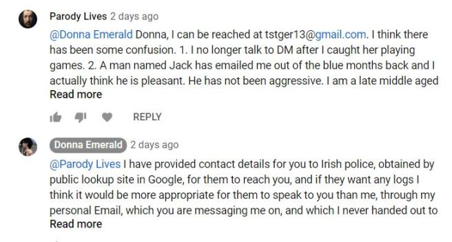 YouTube Thomas Schoenberger comment