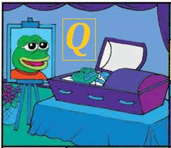 Pepe frog image Q dead