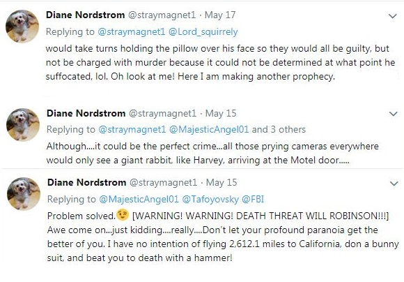 Diane Nordstrum death threat