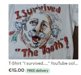 T-Shirt caricature and slogan The Tooth